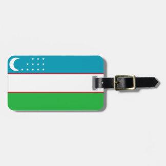 Flag of Uzbekistan Easy ID Personal Luggage Tag
