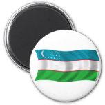 Flag of Uzbekistan Fridge Magnet
