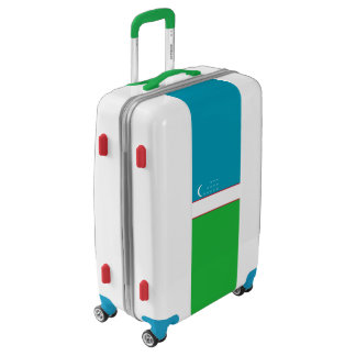 Flag of Uzbekistan Luggage (Medium)