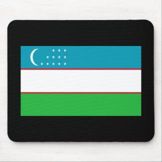 Flag of Uzbekistan Mouse Pad