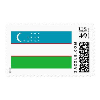 Flag of Uzbekistan Postage Stamps
