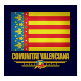Flag of Valencia Poster