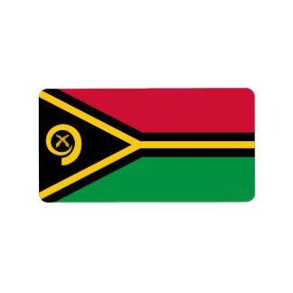 Flag of Vanuatu Labels