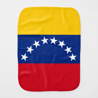 Flag of Venezuela Baby Burp Cloth