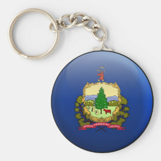 Flag of Vermont Basic Round Button Keychain