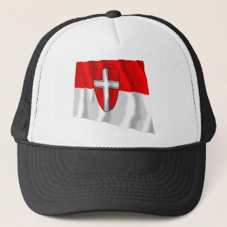 Flag of Vienna, Austria Trucker Hat