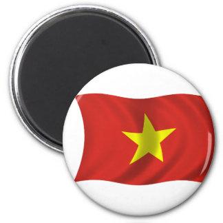 Flag of Vietnam 2 Inch Round Magnet