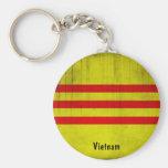 Flag of Vietnam Basic Round Button Keychain