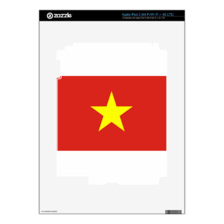 Flag of Vietnam - Quốc kỳ Việt Nam Decal For iPad 3