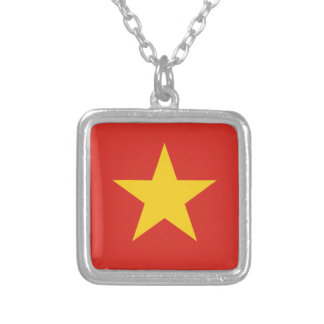 Flag of Vietnam - Quốc kỳ Việt Nam Silver Plated Necklace