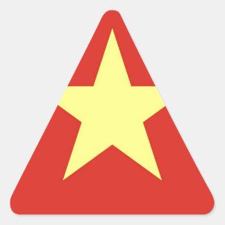 Flag of Vietnam - Quốc kỳ Việt Nam Triangle Sticker