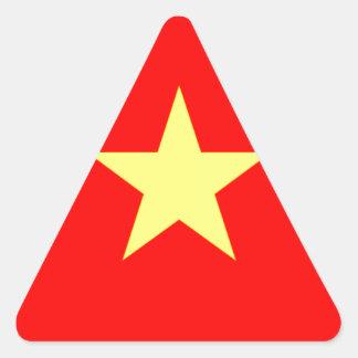 Flag of Vietnam Triangle Sticker