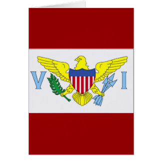 Flag of Virgin Islands Greeting/Note Book Card