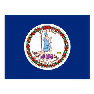 Flag of Virginia Postcard