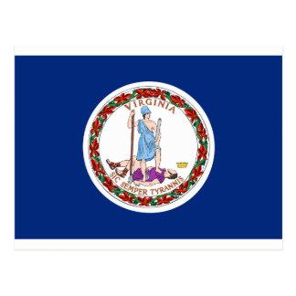 Flag of Virginia, USA Postcard