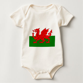 Flag of Wales Baby Bodysuit