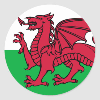 Flag of Wales Classic Round Sticker