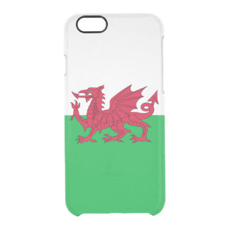 Flag of Wales Clear iPhone Case