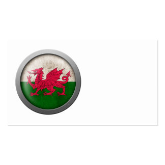 Flag of Wales Disc Business Card Templates