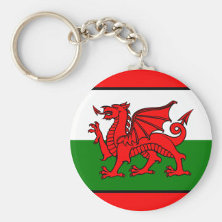 Flag of Wales Basic Round Button Keychain