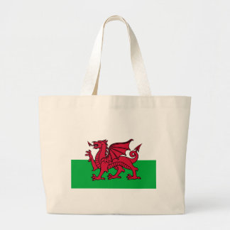 Flag of Wales Large Tote Bag