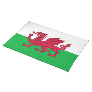 Flag of Wales Placemat Cloth Placemat