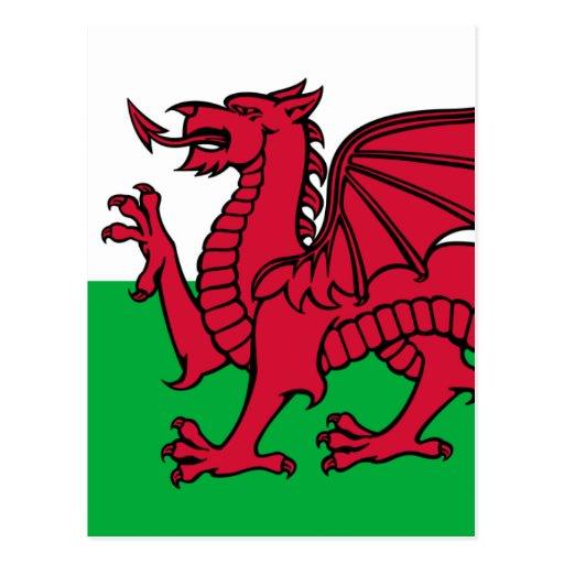 Flag of Wales Postcard