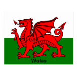 Flag of Wales Postcards