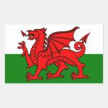 Flag of Wales Rectangular Sticker