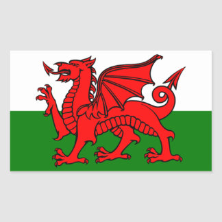 Flag of Wales Rectangular Sticker