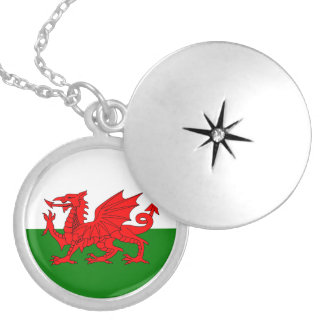 Flag of Wales Silver Plated Necklace