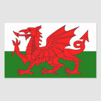 Flag of Wales Rectangle Sticker