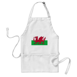 Flag of Wales - The Red Dragon - Baner Cymru Adult Apron