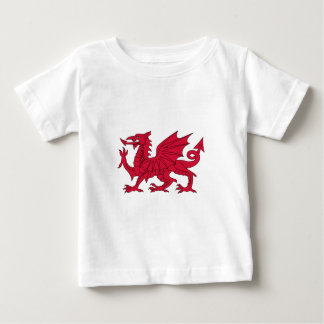 Flag of Wales - The Red Dragon - Baner Cymru Baby T-Shirt