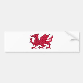 Flag of Wales - The Red Dragon - Baner Cymru Bumper Sticker