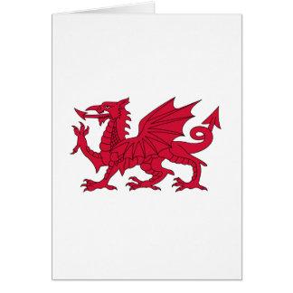 Flag of Wales - The Red Dragon - Baner Cymru Card