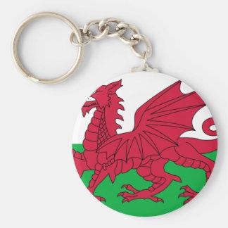 Flag of Wales - The Red Dragon - Baner Cymru Keychain