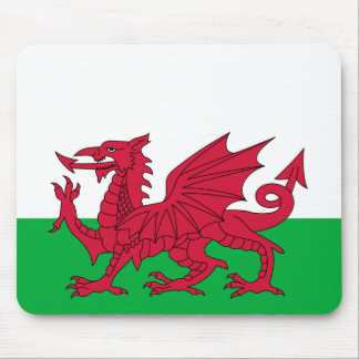 Flag of Wales - The Red Dragon - Baner Cymru Mouse Pad