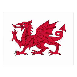 Flag of Wales - The Red Dragon - Baner Cymru Postcard