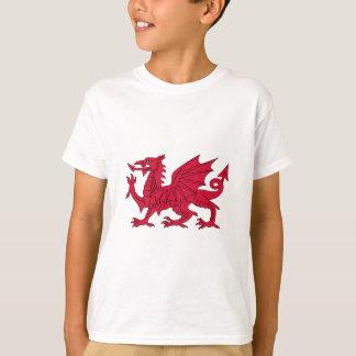 Flag of Wales - The Red Dragon - Baner Cymru T-Shirt