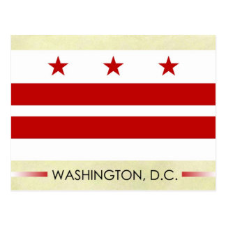 Flag of Washington D C Post Card