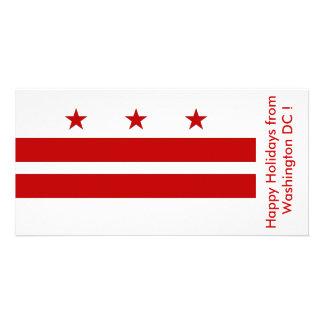 Flag of Washington DC, Happy Holidays from U.S.A. Card