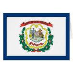 FLAG OF WEST VIRGINA CARDS