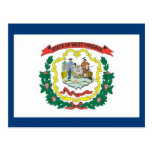 FLAG OF WEST VIRGINA POST CARD