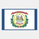 FLAG OF WEST VIRGINA RECTANGLE STICKER