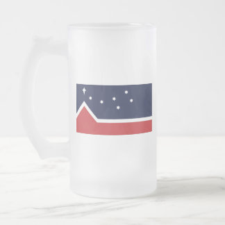 Flag of Western Canada Frosted Glass Beer Mug