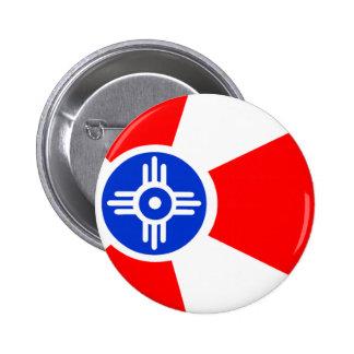 Flag of Wichita Kansas Button