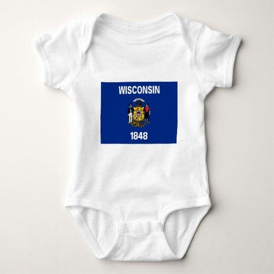 Flag of Wisconsin Baby Bodysuit