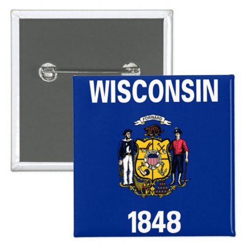 Flag of Wisconsin Button