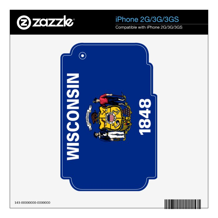 Flag of Wisconsin iPhone 3G Decals